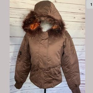 NWT AZZURE Rider Feather Down Puffer Jacket
